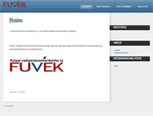 Tablet Preview of fuvek.fi